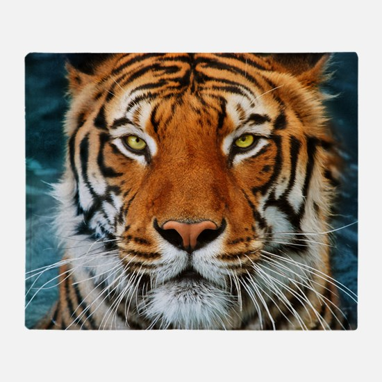 Tiger in Water Photograph Throw Blanket