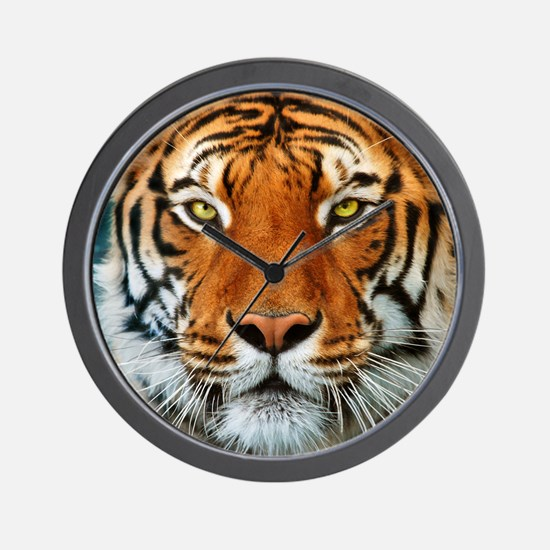 Tiger in Water Photograph Wall Clock