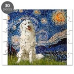Great Pyrenees 3 - Starry Night Puzzle