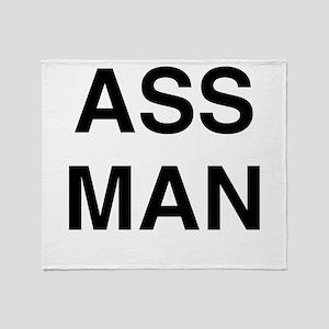 Ass Man Throw Blanket