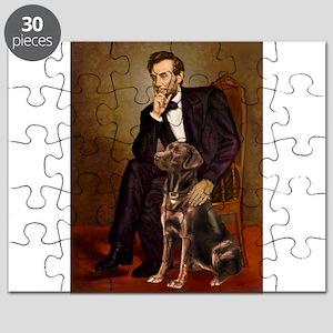 Magnet - Lincoln - Chocolate Labrador 11-c Puz