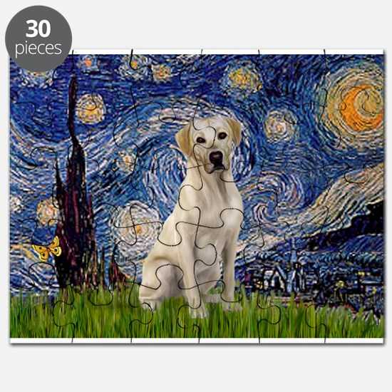 Starry Night Yellow Lab Puzzle