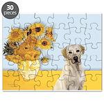 Sunflowers-YellowLab7 Puzzle