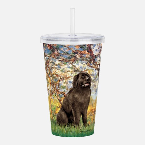 SPRING-Newfie-Brown... Acrylic Double-wall Tumbler