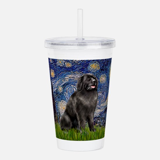 STARRY-Newfie-Blk2.png Acrylic Double-wall Tumbler