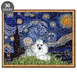 TR-Starrynight-Poodle-whiteliedwn Puzzle
