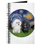 Starry-Two Poodles (Min) Journal
