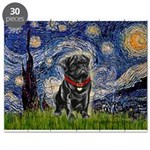 MP-STARRY-Pug-Blk14 Puzzle