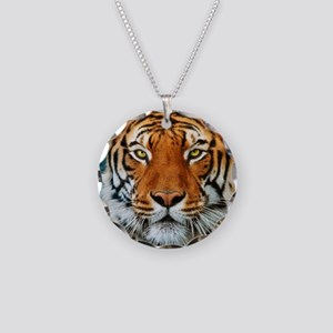 Tiger in Water Photograph Necklace Circle Charm