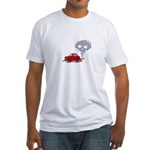 Skull from Car Smoke Fitted T-Shirt
