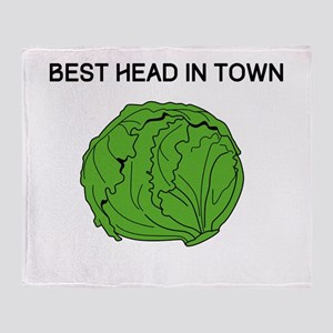 Best Head In Town Throw Blanket