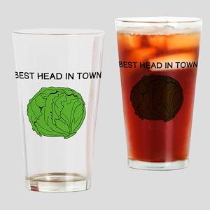 Best Head In Town Drinking Glass