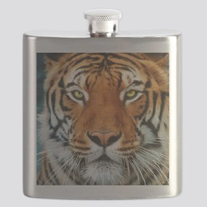 Tiger in Water Photograph Flask