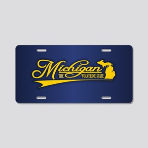 Michigan State of Mine Aluminum License Plate