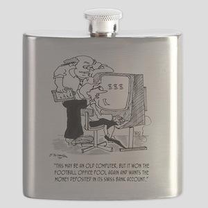 Football Cartoon 9092 Flask