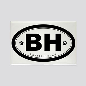 BH: Basset Hound Rectangle Magnet