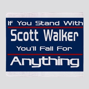 Can't Stand Walker Throw Blanket