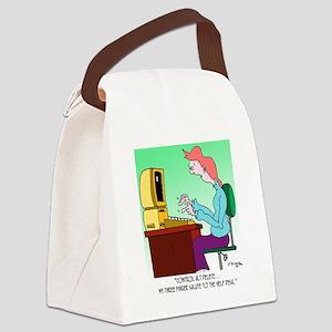 Computer Cartoon 8986 Canvas Lunch Bag