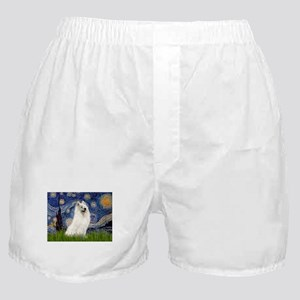 5.5x7.5-Starrynight-Samoyed1 Boxer Shorts