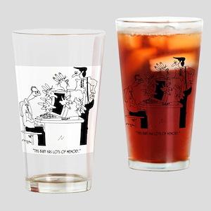 Computer Cartoon 6822 Drinking Glass