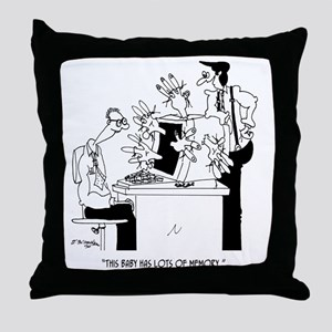 Computer Cartoon 6822 Throw Pillow