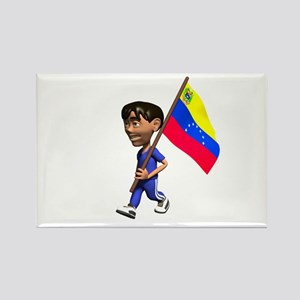 Venezuela Boy Rectangle Magnet