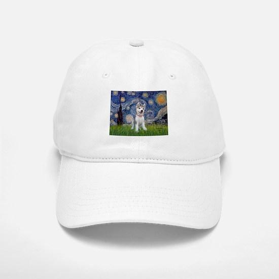 Starry-Siberian pup Baseball Baseball Cap