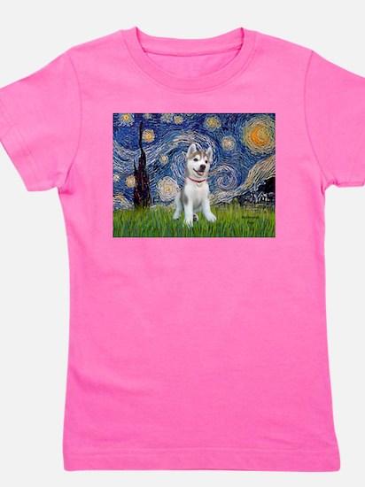 Starry-Siberian pup Girl's Tee