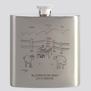 Cyberspace Cartoon 6736 Flask
