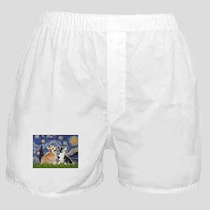STARRY-Corgi-PAIR-Pem-Bicolor Boxer Shorts
