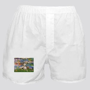 TILE-Lilies2-Whippet2 Boxer Shorts