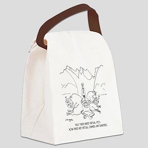 Dog Cartoon 6734 Canvas Lunch Bag