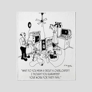 Electrician Cartoon 4427 Throw Blanket