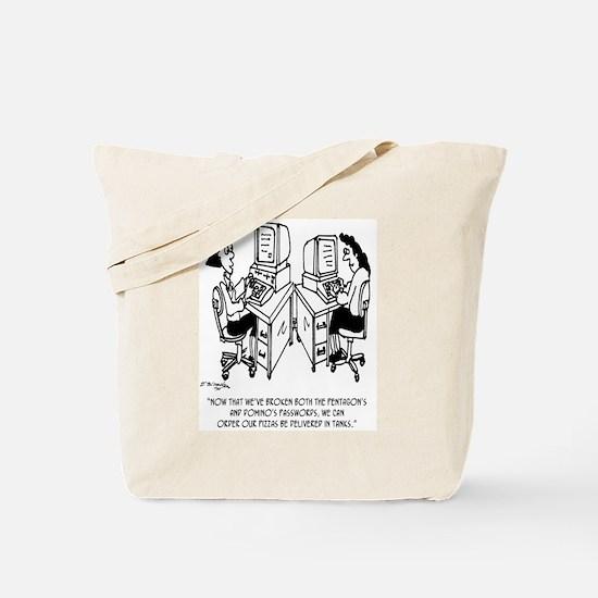 Security Cartoon 4348 Tote Bag