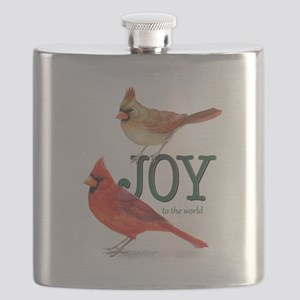 Holiday Cardinals Flask