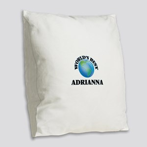 World's Best Adrianna Burlap Throw Pillow