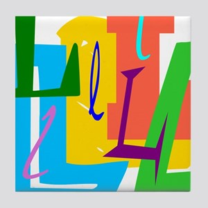 Initial Desigb (L) Tile Coaster