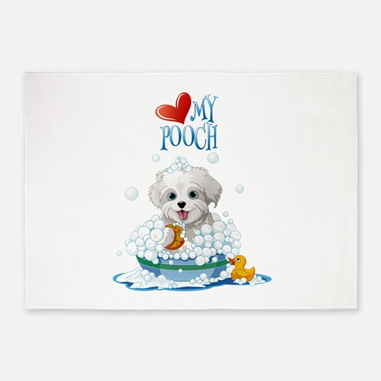Love My Pooch- 5'x7'Area Rug