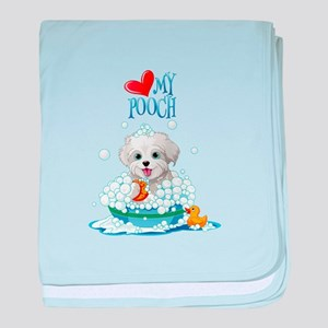Love My Pooch- baby blanket