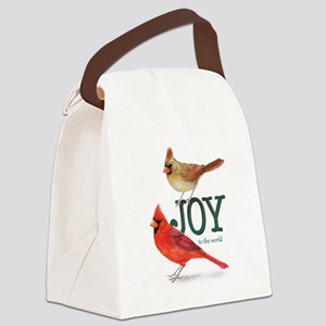 Holiday Cardinals Canvas Lunch Bag
