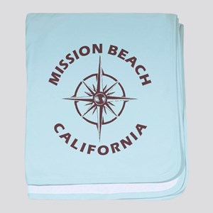 California - Mission Beach baby blanket