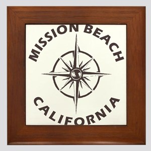 California - Mission Beach Framed Tile