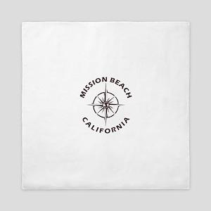 California - Mission Beach Queen Duvet