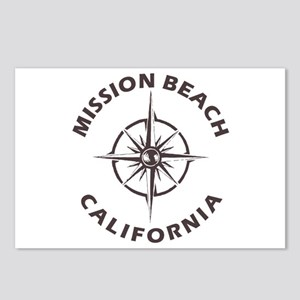 California - Mission Beac Postcards (Package of 8)