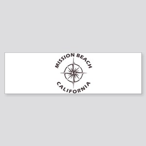 California - Mission Beach Bumper Sticker