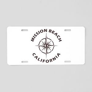 California - Mission Beach Aluminum License Plate