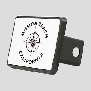 California - Mission Beach Rectangular Hitch Cover