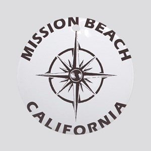 California - Mission Beach Round Ornament