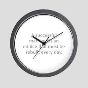 A successful marriage is an edifice that must be r