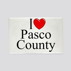 """I Love Pasco County"" Rectangle Magnet"
